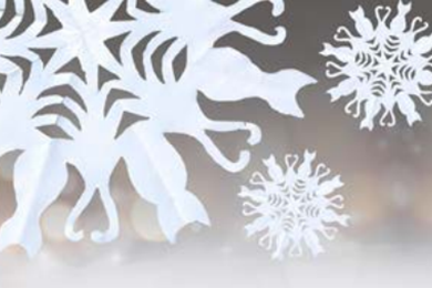 Create Christmassy cat snowflakes