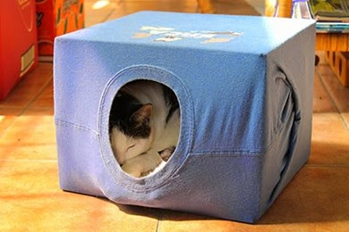How to make a cosy cat tent